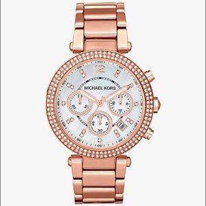 Original Chronograph Parker RoseGoldTone MK watch